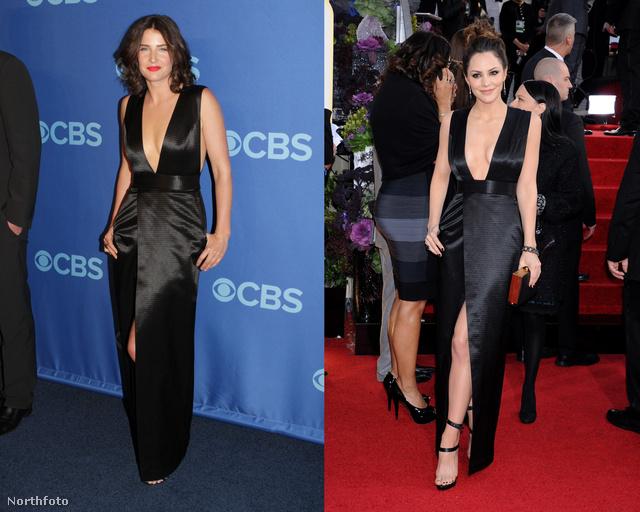 Cobie Smulders és Katharine McPhee ruhája között van egy kis eltérés.