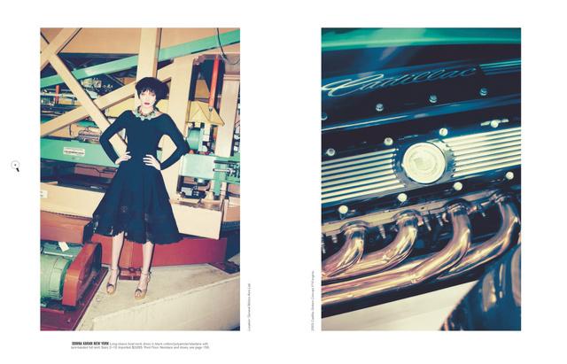 Autómobilok és vintage ruhák a Bergdorf Goodman őszi-téli katalógusában.