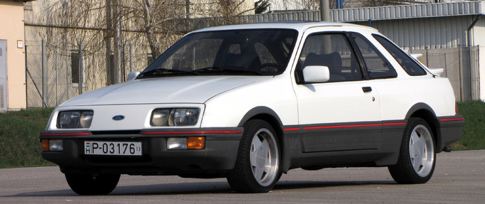 The XR4i had larger bumpers, spoilers and skirt all over