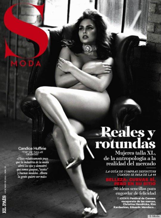 Candice Huffin minden bizonnyal az egyik legszexibb plus size modell, nem véletlenül került 2012-ben teljesen pucéran és egy nyakörv nyaklánccal az S moda májusi címlapjára.