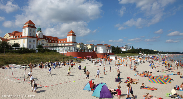 A rügeni tengerpart