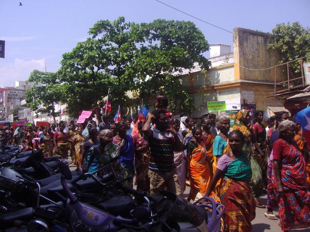 Dél-Indiai utcakép