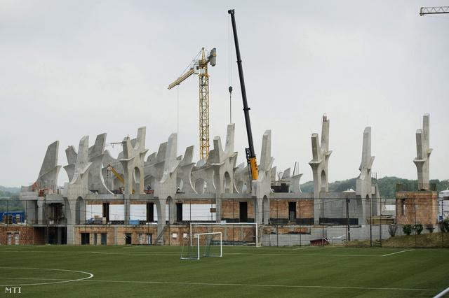 A Puskás Ferenc Labdarúgó Akadémia Felcsúton épülő stadionja