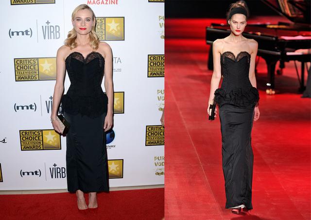 Diane Kruger Nina Riccitől választott ruhát.