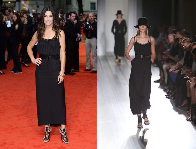 Sandra Bullock Victoria Beckham ruhájában.