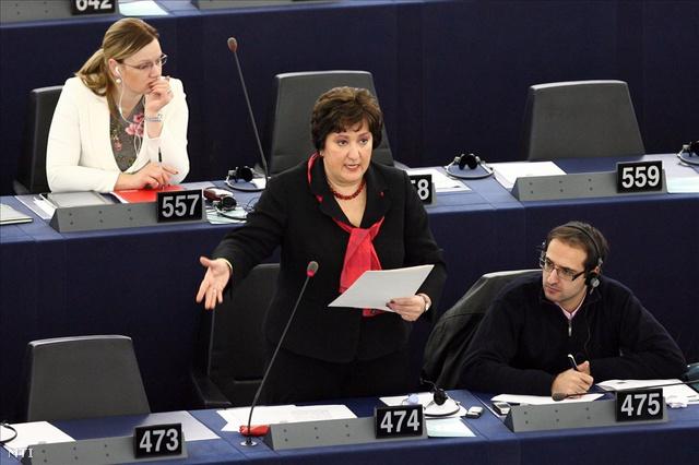 Gurmai Zita az Európai Parlament ülésén Strasbourgban