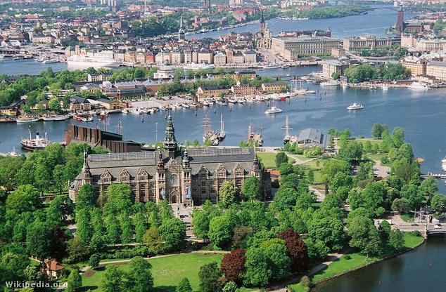 Djurgarden szigete Stockholmban