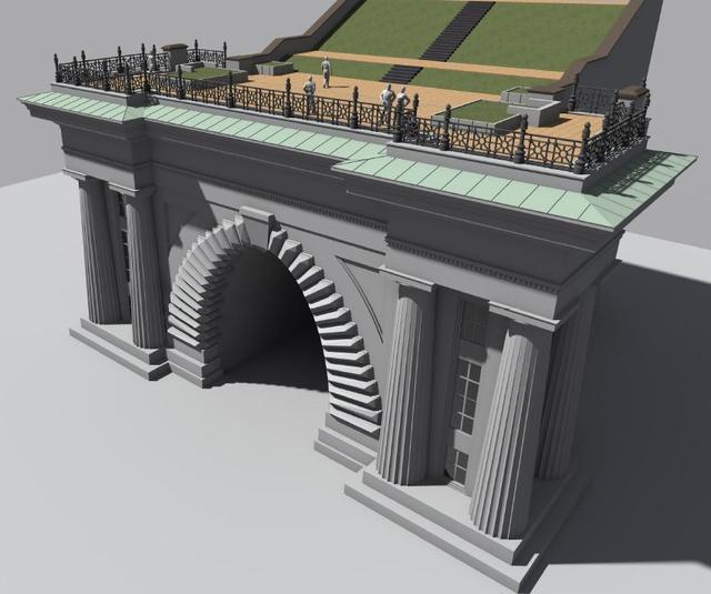 Az új tető látványterve (forrás: I. kerületi önkormányzat)