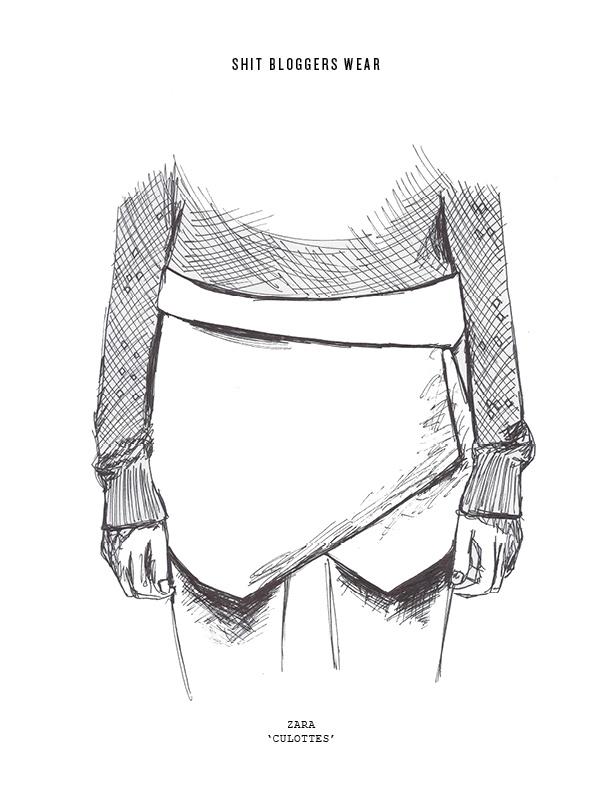 Újabb darab a Zarától: a skirt, vagyis elölről szoknyának tűnő, amúgy rövid szárú nadrág.
