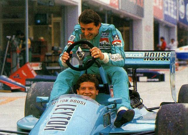 Capelli és csapattársa, Mauricio Gugelmin 1988-ban, talán legsikeresebb évükben