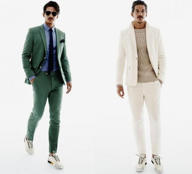 A H&M kreatívjai így képzelték el az idei tavaszt. Ugye, hogy meglepően jól megy a sportcipő az öltönyhöz?
