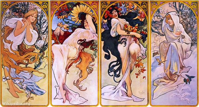 Alfons Mucha: Négy évszak, 1895