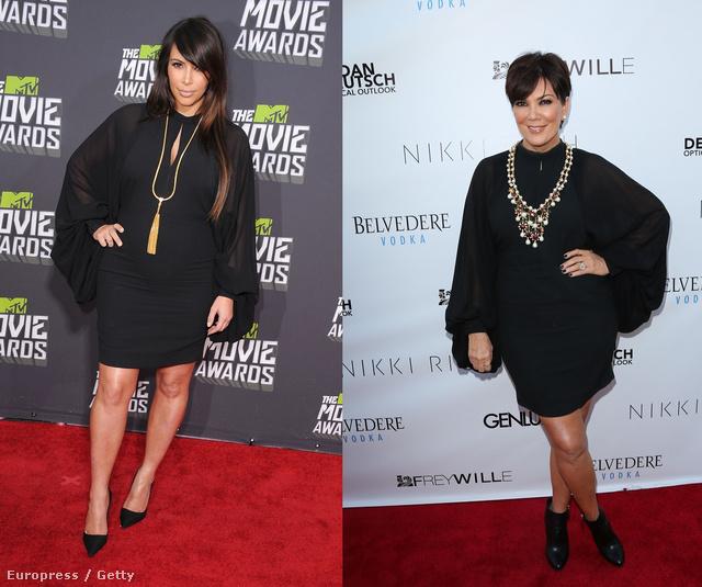 Anya és lánya, azaz Kim Kardashian és Kris Jenner.