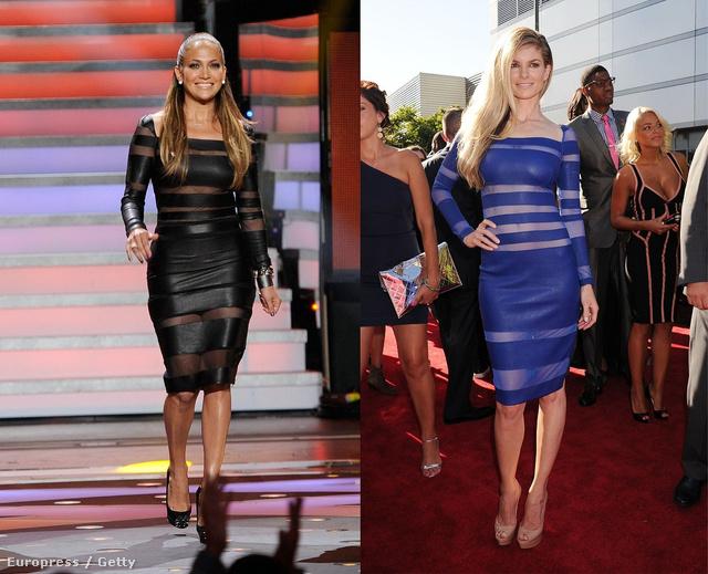 Jennifer Lopeznek és Marisa Millernek ugyanaz a ruha tetszett meg - csak más színben.