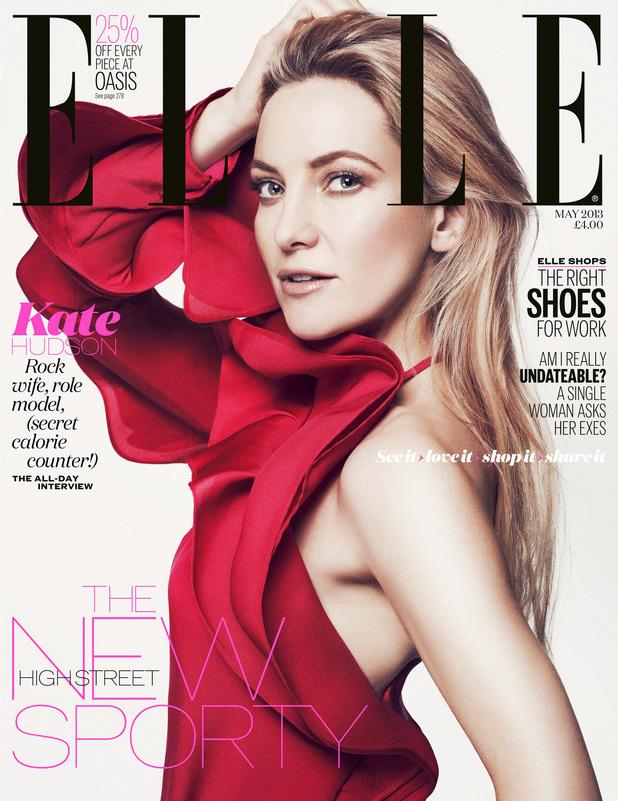 Kate Hudson elegáns Gucciban a brit Elle címlapján.