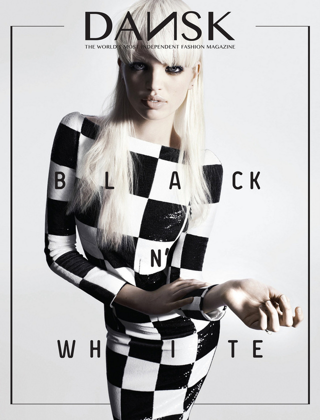 A szezon slágere, Louis Vuitton kockák a Dansk magazin címlapján.