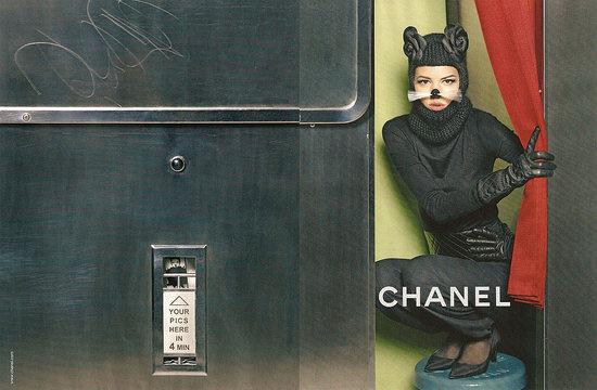 Macskának öltözött Lagerfeld egyik múzsája, Freja Beha Ericsen.