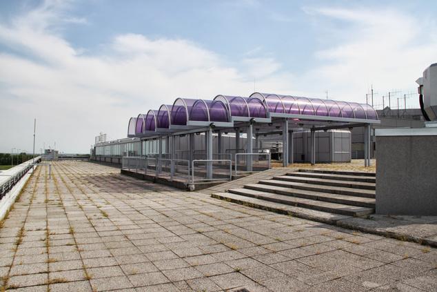 Ilyen volt a kilátó terasza                         Fotó: Budapest Airport