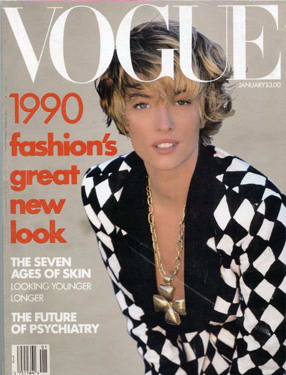 Divattippek és bőrápolás a Vogue 1990-es kiadásában.