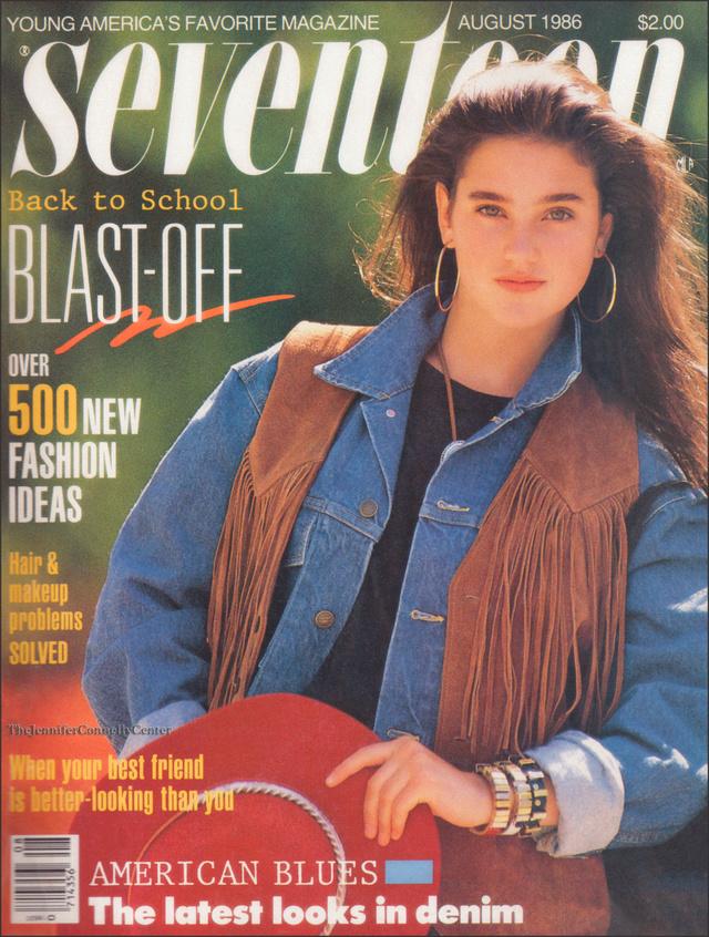 Farmer és 500 legújabb divat tipp az 1986-os Seventeen magazinban.