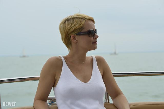 Osvárt Andrea a 45. Kékszalagon, a VinCE Balaton hajóján