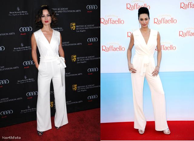 Berenice Marlohe és Lilly Becker is ugyanazt a fehér overált választotta.