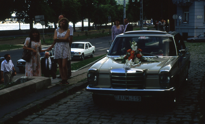 My Mercedes in 1996. If you squint strong enough, it looks a bit like a Rolls