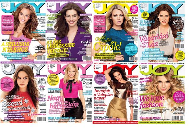 Joy címlapok augusztustól márciusig