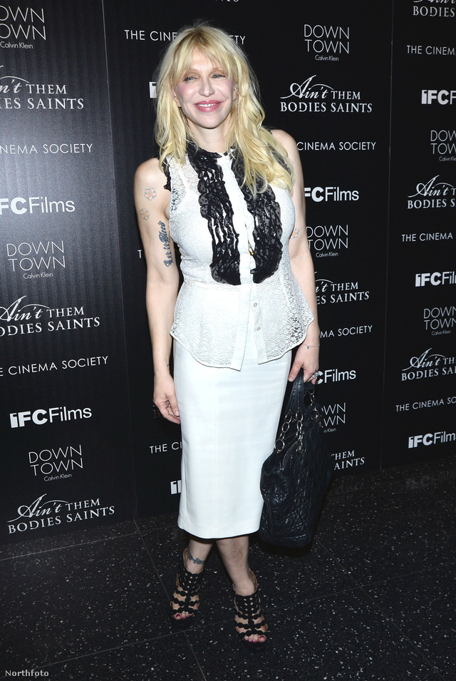 Courtney Love az Ain't Them Bodies Saints bemutatóján, New Yorkban