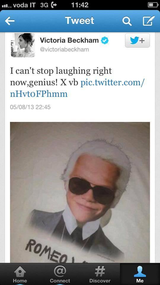 Victoria Beckham twitter posztja nagy lökést adott a márkának.