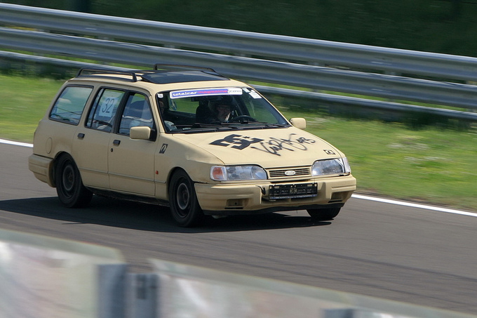 Well, it is not a typical trackday car, but Sipos loves it