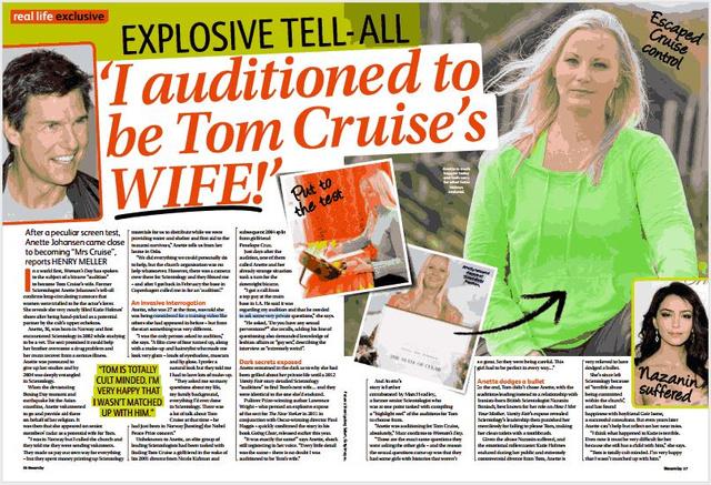 Az első, névvel-arccal vállalt interjú a legendás auditálásokról, az ausztrál Woman's Day magazinban