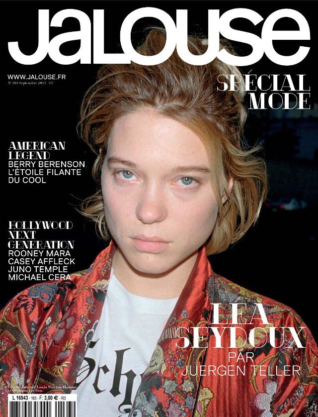 Lée Seydoux smink nélkül a Jalouse címlapján. Vajon ez az új irány vagy egyszeri figyelemfelkeltés volt?
