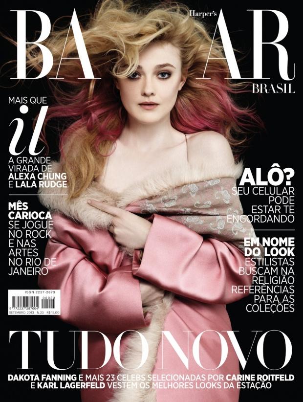Érett nőként a Harper's Bazaar szeptemberi címlapján.