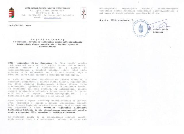 A képre kattintva olvashatják a közlemény teljes szövegét