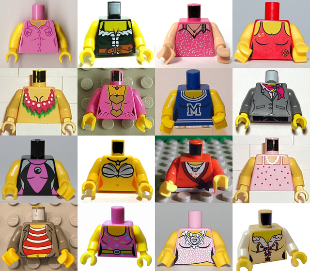 Tipikus női szerepek a Lego világában: cuki, rózsaszín lánykák a hős lovagok és borostás kalózok közt