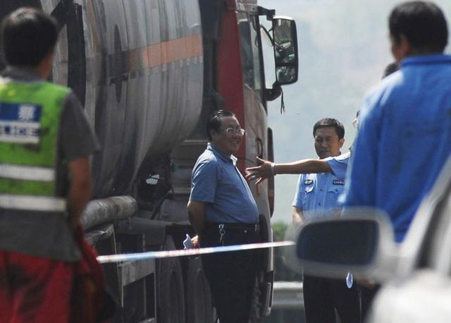 Jang Ta-caj a baleset helyszínén készült felvételen