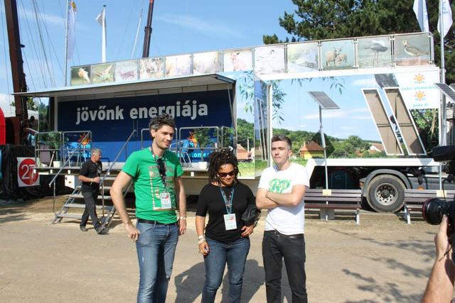 Az Irie Maffia tagjai is meglátogatták a Jövőnk Energiája kamiont