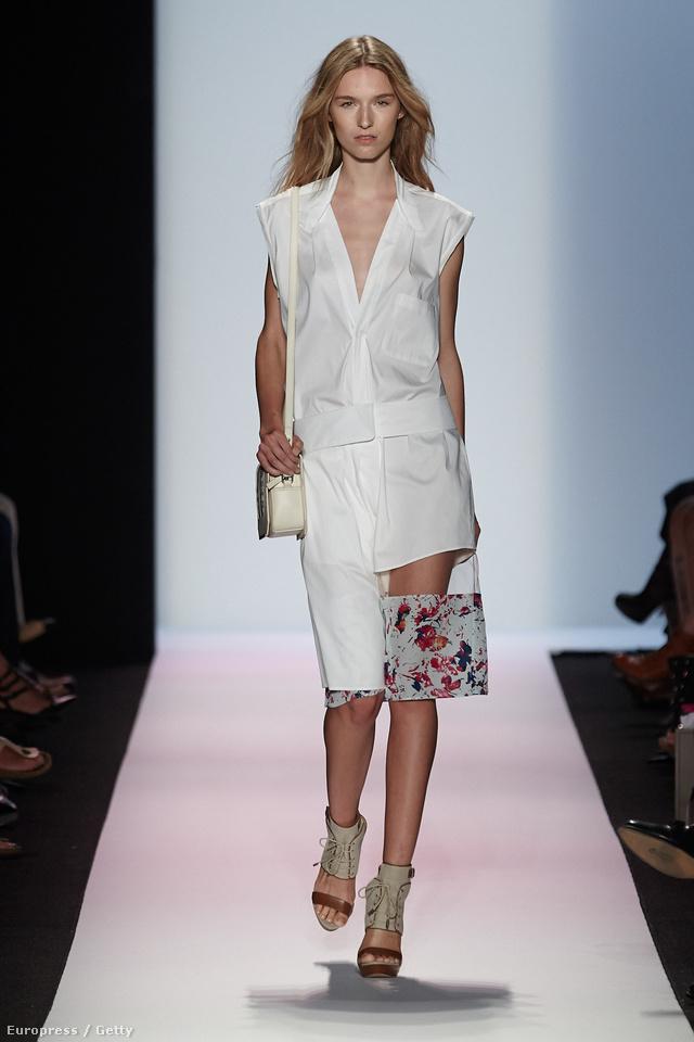 Férfias szabású ingruha a kollekció egyik legmeghatározóbb darabja.