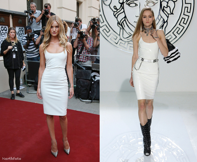 Rosie Huntington-Whiteley egy fehér Versace-ruhát választott a GQ díjátadójára.