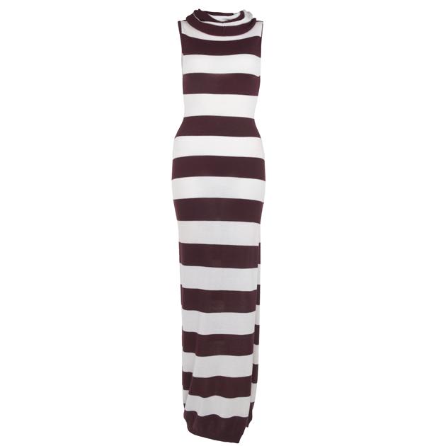 Akármennyire szereti Rihannát, ezt a csíkos ruhát, ami River Island számára készült kollekciójának egy darabja, ne vegye meg inkább. Ár: 60 font