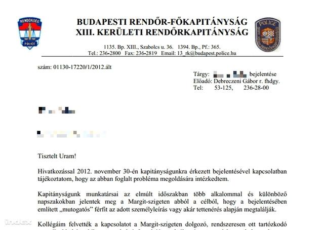 A rendőrség válaszát a képre kattintva olvashatják