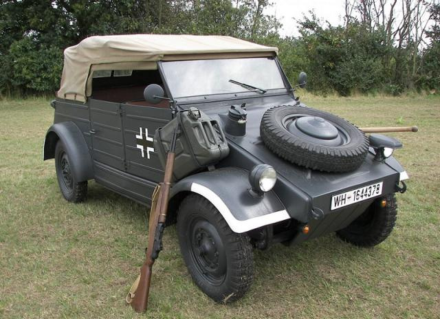 The Kübelwagen Typ 82 is a very close relative of the VW Bug