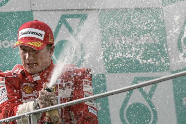 Raikkönen utoljára 2008-ban ünnepelt Ferraris színekben
