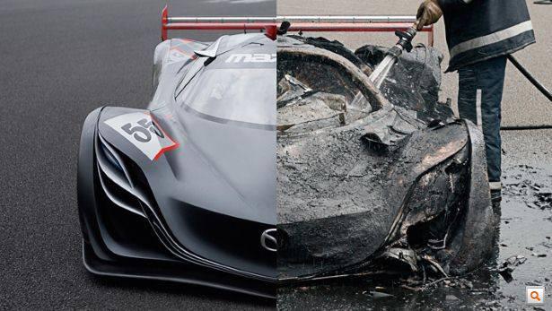 leégett Mazda Furai