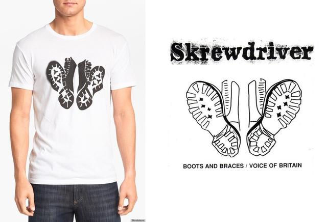 Bal oldalon Marc Jacobs pólója, jobb oldalon a zenekar logója. Hasonlít, nemde?