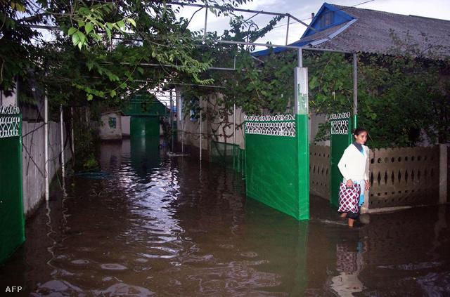 Berezinóban víz alá kerültek az utcák