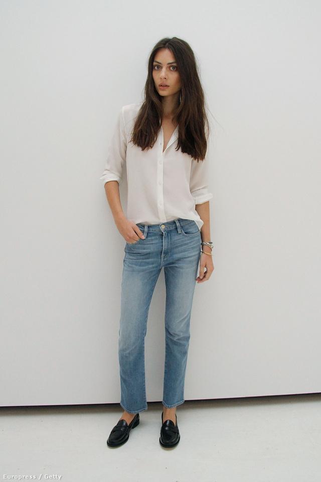 Ez már a Frame Denim divatbemutatója a New York-i divathéten: ilyen cipőt még Victoria Beckham is szívesen visel.