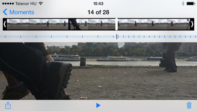 A telefonon kell kiválsztani a videó lassabb részét