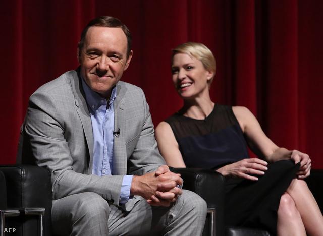 Kevin Spacey és Robin Wright, a House of Cards főszereplői